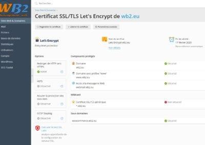 Gérer les certificats SSL pour le https