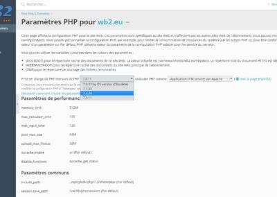 Gérer les paramètres PHP