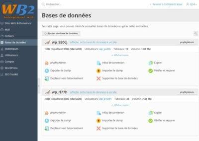 Le gestionnaire de bases de données Mysql